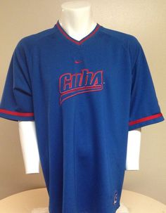 Chicago Cubs NIKE Blue Red X-Large Pullover Jersey XL #ChicagoCubs