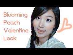 Blooming Peach Valentine's Day Makeup Tutorial 사랑스러운 피치 메이크업