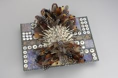 Protection Reliquary by Sharon McCartney  crazy piece w feathers & quills etc.