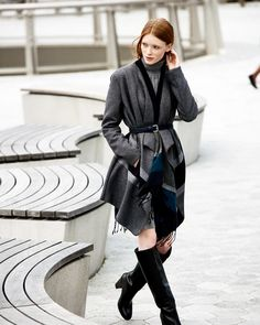 Feeling this curvy vibe. Get your city style on in a belted coat.