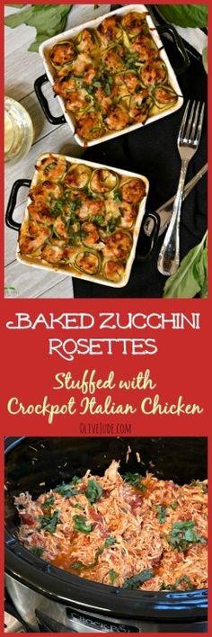 Baked Zucchini Roset