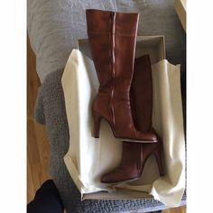 Tall leather heeled boots J. Crew tall leather heeled boots J. Crew Shoes Heeled Boots