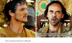 Can't wait to see more of Dorne, Oberyn must have been the most open minded and free character on the show. He's ahead of so many people, even from the real world. And Pedro Pascal❤