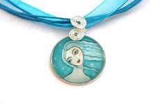 """*Diesen wunderschönen Anhänger habe ich aus dem Gemälde """"Meermaid"""" in einer wunderbaren Zusammenarbeit mit dem Shop  http://de.dawanda.com/shop/Art..."""