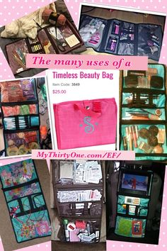 So many uses for just one bag from ThirtyOneGifts the timeless beauty bag! Love love. To View the Entire Catalog -or- Place an Order visit my website: www.mythirtyone.com/aliciamaddox
