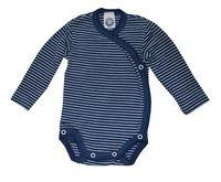 Cosilana Organic Wool/ Silk Long-Sleeved Kimono Bodysuit - Little Spruce Organics $40