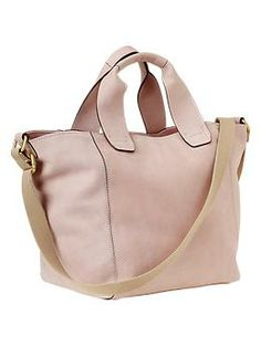 Crossbody leather tote