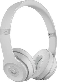 9e7eeb0fcbe Beats by Dr. Dre - Beats Solo3 Wireless Headphones - Matte Silver - Angle  Wireless