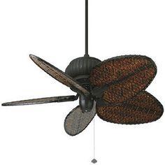 """outdoor fan 44 """" w/ light. Modified height"""