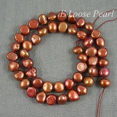 Baroque pearls in Copper