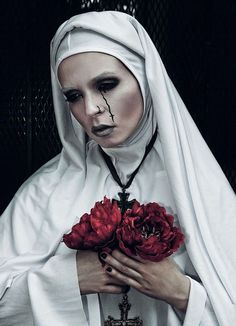 """Devotion"" — Photographer: Candice Ghai – T… Sister Photography, Dark Photography, Makeup Photography, Portrait Photography, Dark Gothic, Gothic Art, Maquillage Halloween, Halloween Makeup, Nun Halloween"