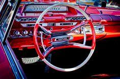1961 Dodge Phoenix Steering Wheel - Car Images by Jill Reger