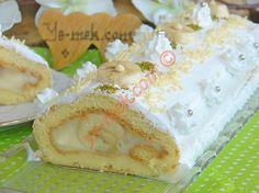 Pastane Usulü Muzlu Rulo Pasta Resimli Tarifi - Yemek Tarifleri