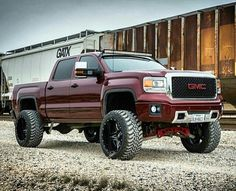 Lifted GMC denali 4x4 truck
