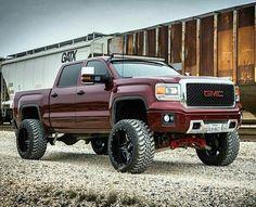 Lifted GMC denali 4x4 truck