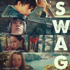Ha. Skandar, Will, Anna, Georgie. Their names spell swag. >.<
