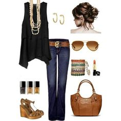 What do you think of this casual, yet classy look for a movie night?