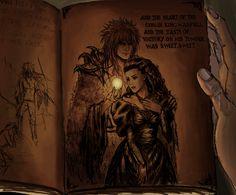 Sarah and Goblin King Jareth