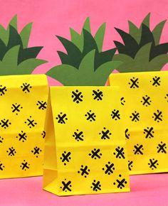 DIY Pineapple Party Bags