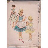 Vintage Girls Dress And Apron McCall's Printed Pattern 8957 (Size 6)
