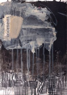 Ink Graphite Abstract by Marie Bortolotto