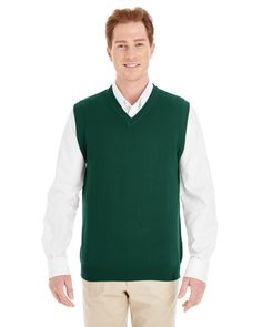 Harriton M415 - Men's Pilbloc™ V-Neck Sweater Vest #harriton #sweatervest