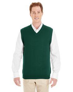 Harriton M415 - Men's Pilbloc™ V-Neck Sweater Vest #harriton #sweatervest