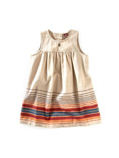 Girls Mercado Stripe Dress by Tea Collection on Gilt