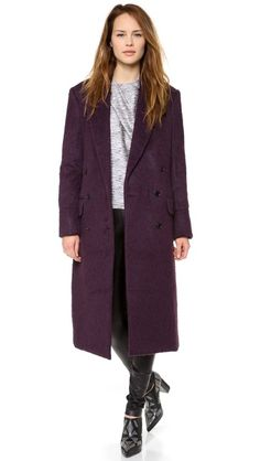 gorgeous aubergine coat