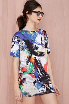 Line and Dot Atmosphere Knit Dress | Shop Dresses at Nasty Gal