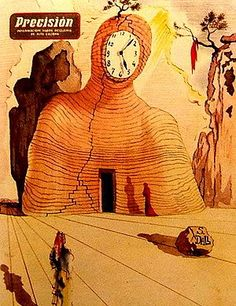 "For Omega, the watch brand, Dali painted a 1953 magazine cover titled ""The Hour of the Poets""."