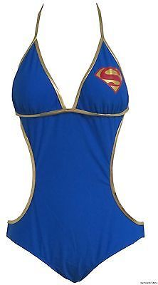Supergirl-Superman-Logo-Triangle-Monokini-One-Piece-Bathing-Suit-Licensed-S-XL