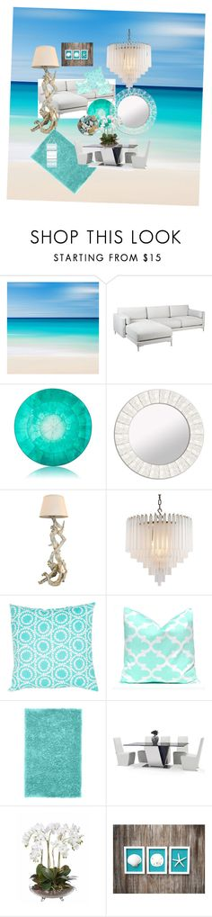 beach house by linaasmi on Polyvore featuring interior, interiors, interior design, home, home decor, interior decorating, Eichholtz, PBteen, Kim Seybert and PTM Images