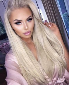 Pin by mellony kailey on daily hair inspirations frisuren, blonde haare bla Trendy Hairstyles, Wig Hairstyles, Straight Hairstyles, Wedding Hairstyles, Gorgeous Hairstyles, Blonde Beauty, Hair Beauty, Beauty Style, Blonde Wig