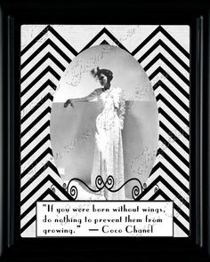 Coco Chanel  On Taking Flight Motivational Print por ChezLorraines, $18,00
