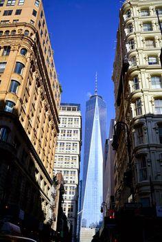 Vista da Fulton Street, WTC, New York, Nova Iorque, NYC, Manhattan, USA< EUA