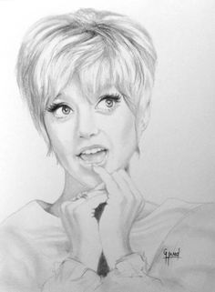 Goldie Hawn....Pencil drawing by Greg Hand