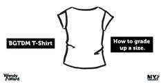 grading up a size t-shirt Sewing Hacks, Sewing Tips, How To Make Notes, Dressmaking, Continue Reading, Athletic Tank Tops, Vest, T Shirt, Tutorials