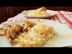 Κοτόπουλο λεμονάτο με πιλάφι!!! - YouTube Lemon Chicken, Greek Recipes, Grains, Food And Drink, Rice, Cooking Recipes, Youtube, Corner, Amor