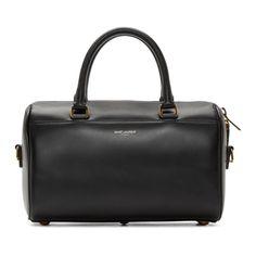 Saint Laurent Black Smooth Baby Duffle Bag
