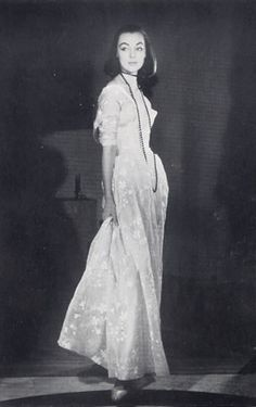 White organdy dress by Balenciaga, photo by Joseph Grove 1954.