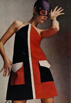 Mademoiselle yeye Carly Dress in Orange and Purple 106 20 18745 20160720 1960s Mod Fashion, Sixties Fashion, Retro Fashion, Vintage Fashion, Sporty Fashion, Ski Fashion, Fashion Women, Winter Fashion, Fashion Today