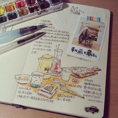 Art journal pages and inspiration – ideas for travel journaling and art journali… Kunstjournal-Seiten und Inspiration – Ideen für Reisejournal und Kunstjournal. Journal Croquis, Sketch Journal, Voyage Sketchbook, Travel Sketchbook, Travel Journal Pages, Art Journal Pages, Art Journaling, Travel Journals, Journal Ideas