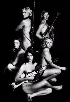 Female Biathlon Team.  Team Canada did a calendar to get money to train for the Olympics