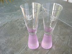 """TWO ROYAL CARIBBEAN CRUISE LINE """"PINK"""", WEIGHTED  5""""  SHOT GLASSES Royal Caribbean Cruise, Shot Glasses, Rubber Rain Boots, Shots, Pink, Shot Glass, Pink Hair, Roses"""
