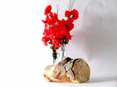 Blumenvase, Vase, Hochzeitsdeko, Birke von artdesignstore auf DaWanda.com