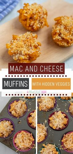 """Mac and Cheese Muffins with Hidden Veggies -- A Mind """"Full"""" Mom Healthy Macaroni Cheese, Cheesy Pasta Recipes, Best Macaroni And Cheese, Fall Recipes, Whole Food Recipes, Cheap Recipes, Cheap Meals, Easy Meals, Mac And Cheese Muffins"""