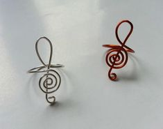 If you love music, you will love these simple, yet beautiful wire-wrapped rings.
