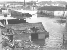 Gasworks and Beach Station showing damage to buildings. Felixstowe