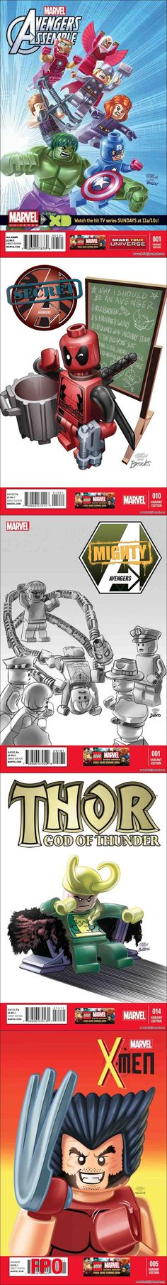 Marvel releases a set of variant covers to celebrate the New LEGO Marvel Super Heroes video game.